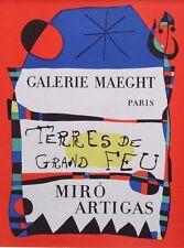 "JOAN MIRO mounted Mourlot lithograph, 1959, Affiches Originales 14 x 11"" AO53"