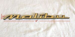"1997- 2003 CHEVROLET ""MALIBU"" 24K GOLD PLATED REAR EMBLEM SCRIPT - 22638474"