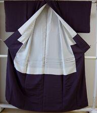 Kimono Dress Japan Geisha costume Oriental used Vintage iromuji Kamon 1610Z2S22