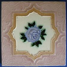"""Tile Vintage Glazed Rose Majolica """"Old Raj"""" Style 15x15cm"""