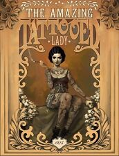 (LAMINATED) THE AMAZING TATTOOED LADY VINTAGE POSTER (61x91cm)  PICTURE PRINT