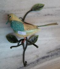 COLORFUL SPARROW BIRD HOUSE WARE WALL HANGER HOOK LIVING STYLES UTILITY RARE ART