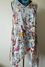 Uncle Frank / Ivy Jane Casual Chic Asymmetric Tunic with fit-flops Print- Large