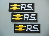 PATCH RENAULT SPORT  PZ 3 RICAMATA TERMOADESIVA CM. 7X2,5 - REPLICA -COD 1704