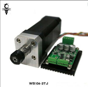 104W High Speed Spindle Motor+Mount Bracket+Brushless Drive For CNC Machine
