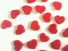 40 x Mini felt hearts .die cut shape pre cut felt. red heart  size 12mm .Craft.
