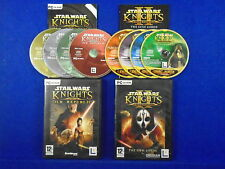 pc STAR WARS Knights Of The Old Republic + The Sith Lords 2 II  CD ROM