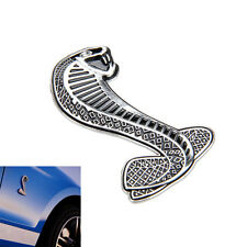 Silver 3D Cobra Snake Emblem Badge Sticker Decal Carven For Ford Mustang Shelby