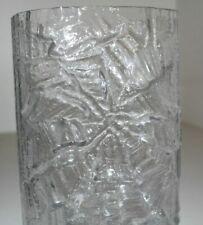 Solid Original Vintage 1970er Floor Vase Rosenthal Glass Crystal 70s Brutalist