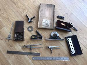 Vintage Engineers Measuring Gauges , Sine Bar ,micrometer,CalipersEtc