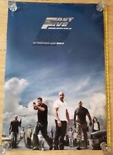 AUTHENTIC FAST FIVE  Movie POSTER Original Double Sided 27x40