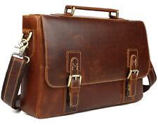 Men's Genuine Leather Laptop Briefcase Handbag Shoulder Bag Tote Messenger Satch