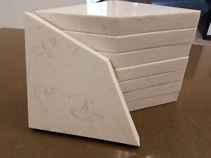 8 x Shower Corner Shelf Granite Quartz White Gray
