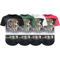 NEW Men Crown Cash Gold Foil Billionaire Club T-Shirt 2 Tone Sizes S-3XL