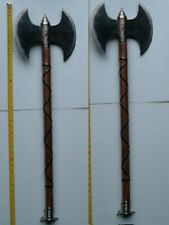 "2 Large 34"" Medieval Double Edge Metal Blade Battle Axes , Executioner Axes,"