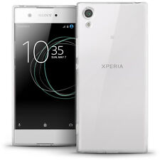Glossy TPU GEL Case Skin for Sony Xperia Xa1 2017 Soft Cover Screen Protector Transparent Clear