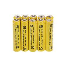 10 x Rechargeable 1.2V 600mAh NiMH AAA Solar Light Batteries For Garden Lights