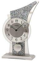 Ams -quartzpendel Horloge de Table 26cm- 1136 Moderne avec Mécanisme à Quartz,