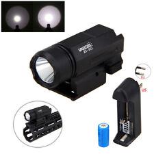Tactical Flashlight LED Compact Hunting Light For Gun Rifle Shotgun Rail Mount