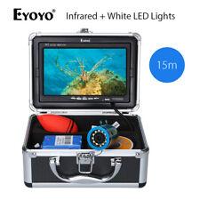 """Eyoyo 7"""" 15M  IR +White LED Lights Underwater Fishing Camera Fish Finder 12pcs"""