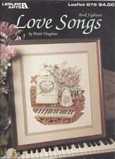 Cross Stitch PATTERN Booklet Love Songs