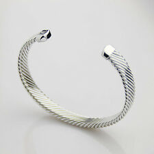 new silver plated copper healthy magnetic power stone bracelet bangle adjustable