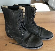 Frye Short Boots Women 7 Lace Suede Military Combat Brown Nordstrom $225