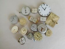 W9 LOT OF WRISTWATCH MOVT MOVADO OMEGA LONGINES ELGIN VULCAN WITTNAUER LUCIEN