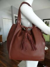LUCKY BRAND Large Leather Numa shoulder tote with Tassles