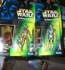 STAR WARS POWER OF THE FORCE 2-1B MEDIC DROID AND 4-LOM. EACH SEALED, UNOPENED