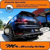 New Rear Diffuser Kits Suit Volkswagen VW Golf 6 / MK VI GTI Factory Rear Bumper