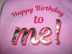 HAPPY BIRTHDAY to ME! Dog Shirt new pet S Top Paw puppy Small pink party tank