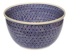 Polish Pottery Mixing Bowl 5 Qt. GU986-1-120 Decoration Inside Zaklady