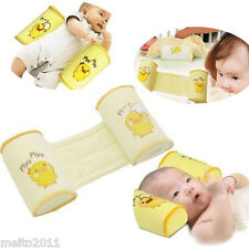 Baby Infant Safe Sleep Positioner Prevent Flat Head Shape Anti Roll Pillow US