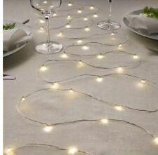 IKEA VISSVASS Indoor Fairy String Light Set 80 Count Battery Operated NEW