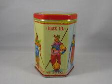 New listing Vintage Chinese Black Tea Tin Kwong Sang Hong Kong King Liu Pei and Generals