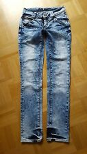 ONLY Mod. Coral SS Debbie Jeans Hüftjeans Acid W 27 L 34