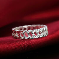 925 sterling silver plated Fashion Wedding hollow lady Cute women Rings Jewelry