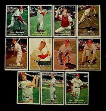 1957 Topps Philadelphia Phillies, Lot of 11, EX