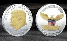 Donald Trump 2020 Keep America Great Challenge Coin Silver With Gold Face