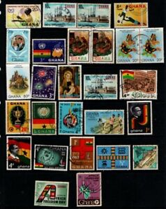 Ghana 1959 1981 collection 27 stamps Used