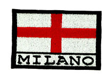 FLAG PATCH PATCHES MILANO MILAN CITY ITALY for BACKPACK IRON ON EMBROIDERED
