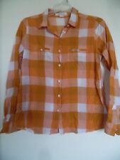 Ladies Forever 21 Plaid button down shirt size SP