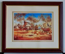 "The Fleet Arrives - Max Mannix,"" A Re-Enactment 1788-1988 "", Fully Framed."