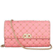 Valentino Rockstud Spike Leather Shoulder Bag - Pink Paradise
