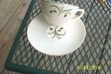 VTG EDWIN KNOWLES CHINA FORSYTHIA CUP +SAUCER GOLD TRIM
