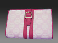 New Authentic Vintage LACOSTE Ladies Leather PURSE WALLET Chantaco 10 Pink
