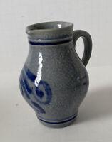 Marzi & Remy MR Germany Blue SAlt Glaze Pottery Stoneware 3061 RM