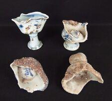 4 coupes sur pied en porcelaine de Chine ratés de cuisson / chinese stem cups