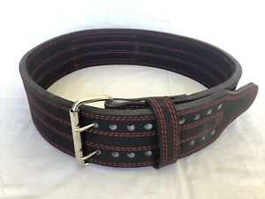 """RUN2WIN Safety Powerlifting Belt Size L - 13mm X 4"""" New Double Prong 37-45 Inch"""